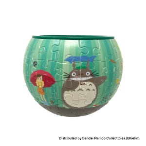 "AT8-02 Totoro The World Goes Around Puzzle Bowl  ""My Neighbor Totoro"", Ensky Art Bowl Jigsaw"