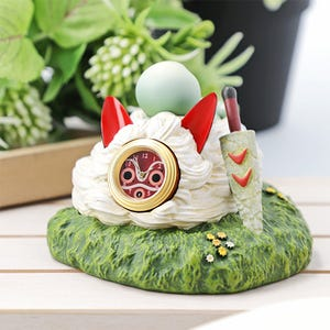 "Upon San's Mask Statue Desk Clock ""Princess Mononoke"", Benelic"