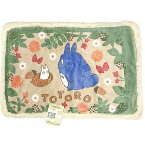 "Totoro In the Bushes (Medium Size Sherpa Blanket) ""My Neighbor Totoro"", Marushin"