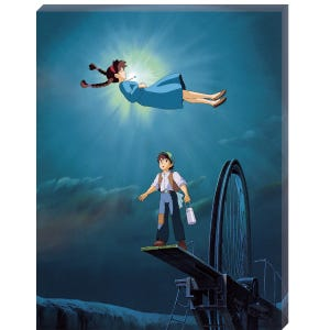 "ATB-16 The Girl Who Fell From The Sky ""Castle in the Sky"", Ensky Artboard Jigsaw (Canvas Style)"