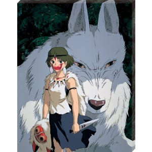 "ATB-20 Moro and San ""Princess Mononoke"", Ensky Artboard Jigsaw (Canvas Style)"