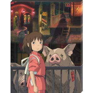"ATB-21 The Other Side of the Tunnel ""Spirited Away"", Ensky Artboard Jigsaw (Canvas Style)"
