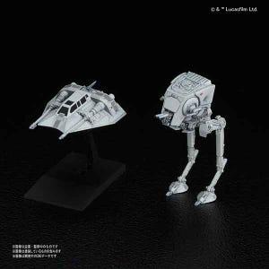 "008 AT-ST & Snowspeeder ""Star Wars"", Bandai Star Wars Bandai Vehicle Plastic 1/144 Model"