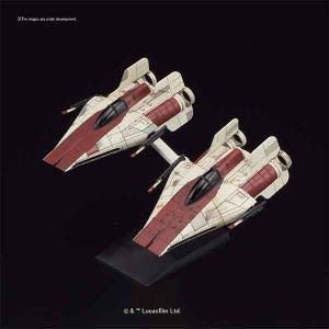 "010 A-Wing Star Fighter 2 Pack ""Star Wars"", Bandai Star Wars Vehicle Model"