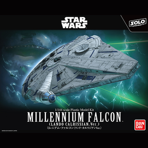 "Millennium Falcon (Lando Calrissian Ver.) ""Solo: A Star Wars Story"", Bandai Star Wars 1/144 Plastic Model Kit"