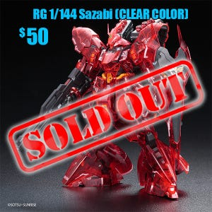 Sazabi (CLEAR COLOR), Bandai RG 1/144