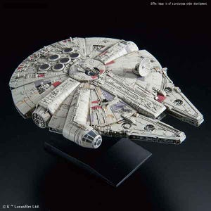 "0015 Millennium Falcon (Empire Strikes Back Ver.) ""Star Wars"", Bandai Star Wars Vehicle Plastic 1/350 Model"