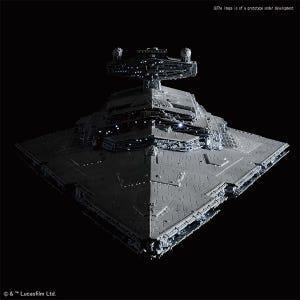 "Star Destroyer (Lighting Model) First Production Limited ver ""Star Wars"", Bandai Star Wars Vehicle Plastic 1/5000 Model"