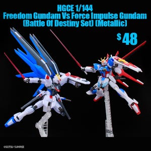 Freedom Gundam Vs Force Impulse Gundam (Battle Of Destiny Set) (Metallic), Bandai HGCE 1/144