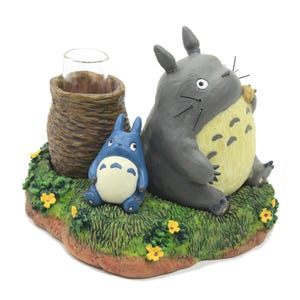 "Totoro and Blue Totoro Single Stem Vase ""My Neighbor Totoro"", Benelic"