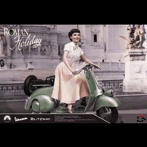"Princess Ann & 1951 Vespa 125 ""Roman Holiday"", Blitzway Superb Scale Statue (1/4 Scale)"