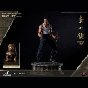 """Bruce Lee: Tribute Statue - ver. 4 """"Bruce Lee"""", Blitzway 1/4th Scale Hybrid Type Statue"""