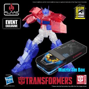 "Optimus Prime IDW (Clear Ver) ""Transformers"", Flame Toys Furai Model"
