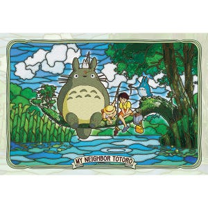 "300-AC034 Totoro and Friends Fishing ""My Neighbor Totoro"", Ensky Artcrystal Puzzle"