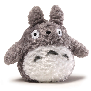 "6"" Grey Fluffy Big Totoro Plush ""My Neighbor Totoro"", Sun Arrow Plush"