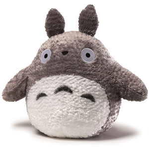 "13"" Grey Fluffy Big Totoro Plush ""My Neighbor Totoro"", Sun Arrow Plush"