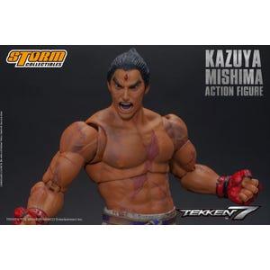 """Kazuya Mishima Final Battle Version *Summer 2020 Exclusive* """"Tekken 7"""", Storm Collectibles 1:12 Action Figure"""