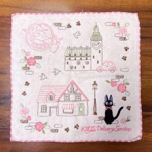 "Jiji Pink Avenue Mini Towel ""Kiki's Delivery Service"", Marushin Towels"