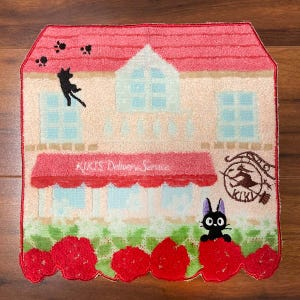 "Jiji Flower Maison Mini Towel ""Kiki's Delivery Service"", Marushin Towels"