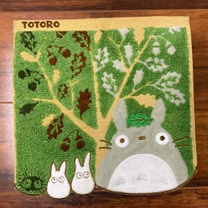 "Totoro and Acorn Tree Mini Towel ""My Neighbor Totoro"", Marushin Towels"