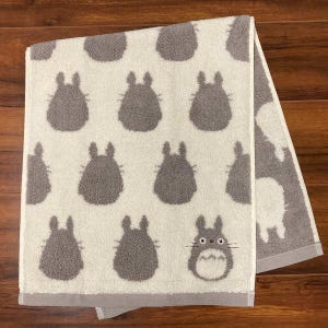 "Totoro Silhouette Face Towel ""My Neighbor Totoro"", Marushin Towels"