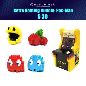 NYCC 2021 Nanoblock Retro Gaming Pac-Man Bundle