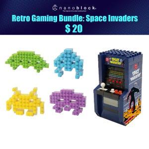 NYCC 2021 Nanoblock Retro Gaming Space Invaders Bundle