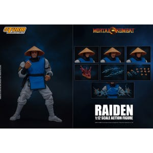 "Raiden ""Mortal Kombat"", Storm Collectibles 1:12 Action Figure"