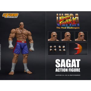 "Sagat ""Street Fighter"", Storm Collectibles 1:12 Action Figure"