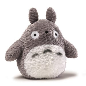 """9"""" Grey Fluffy Medium Totoro Plush """"My Neighbor Totoro"""", Sun Arrow Plush"""