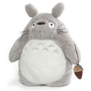 "15.5"" Gray Totoro Plush Backpack ""My Neighbor Totoro"", Sun Arrow Plush"