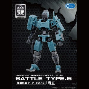 """Battle Type 5 """"Armored Puppet"""", Number 57 1/24 Scale Model"""
