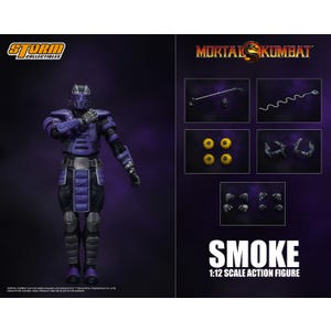 "Smoke *NYCC 2019* ""Mortal Kombat"", Storm Collectibles 1:12 Action Figure"