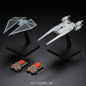 "U-Wing Fighter & Tie Striker ""Rogue One: A Star Wars Story"", Bandai Star Wars 1/144 Plastic Model"