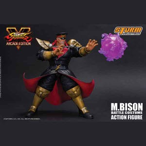 "M. Bison Battle Costume ""Street Fighter V"", Storm Collectibles 1/12 Action Figure"