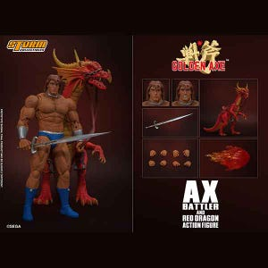 "Ax Battler & Red Dragon ""Golden Axe"", Storm Collectibles 1/12 Action Figure"