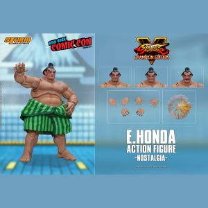 "E. Honda (Nostalgia Costume) *NYCC 2020 Exclusive* ""Street Fighter V"", Storm Collectibles 1/12 Action Figure"