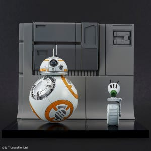 "BB-8 & D-0 Diorama Set ""Star Wars"" (Rise of Skywalker Ver.), Bandai Spirits Star Wars Plastic Model"