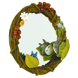 "Totoro Hide-and-Seek Wreath Mirror (hang/stand) ""My Neighbor Totoro"", Benelic"