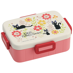"Traditional Jiji and Flower Bento Box With Divider 650ML ""Kiki's Delivery Service"", Skater Bento"