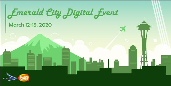 Join us for our Emerald City Digital Event March 12th to 15th!