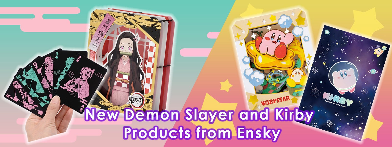 New Demon Slayer and Kirby Products from Ensky