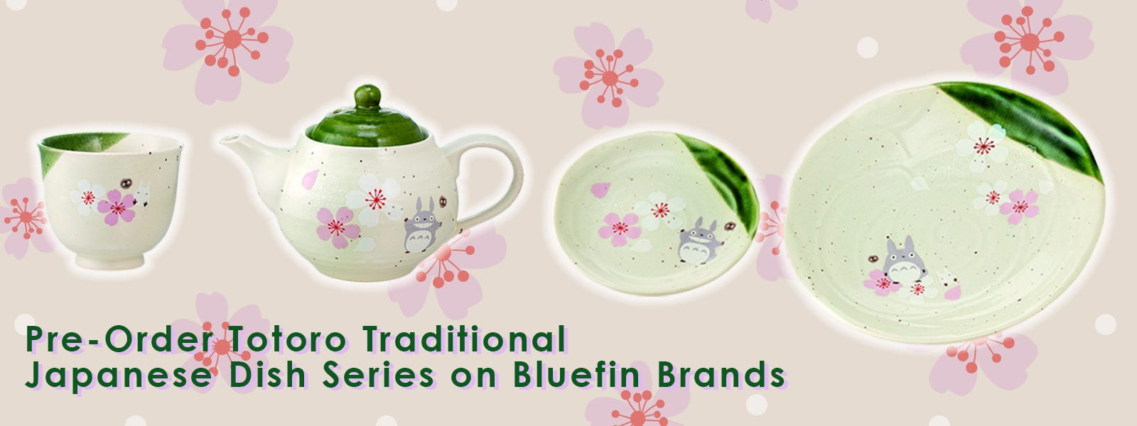 Pre-Order Totoro Traditional Japanese Dish Series on Bluefin Brands