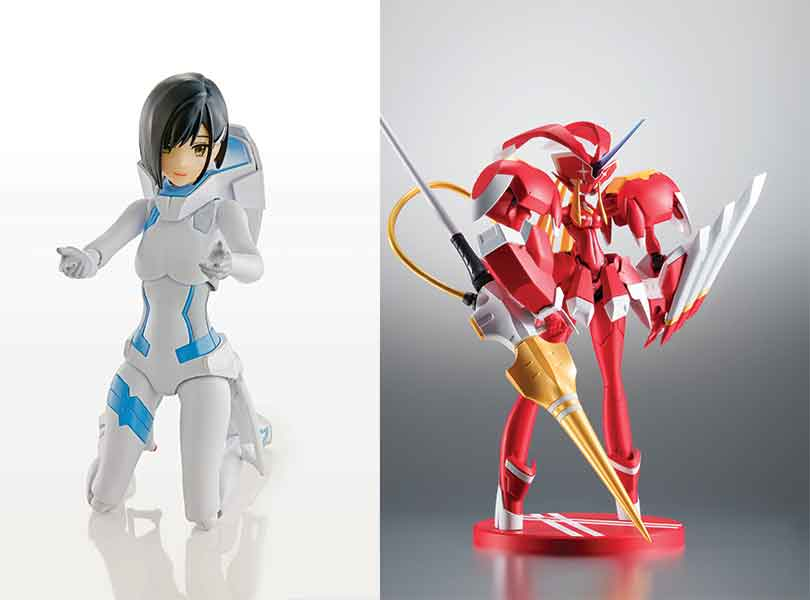 New from Bandaii Tamashii Nation, Two New Darling in the Franxx Figures