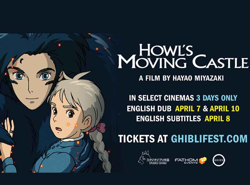 Celebrate the 15th anniversary of the Academy Award-nominated fantasy adventure, HOWL'S MOVING CASTLE