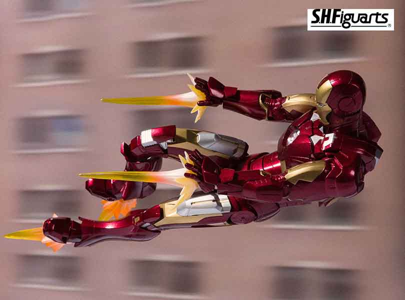"Bandai Tamashii Nations S.H.Figuarts Ironman Mk-7 And Hall Of Armor Set From ""Marvel"""