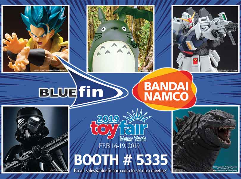BLUEFIN TO SHOWCASE CULTURE PROPERTIES AT TOY FAIR 2019