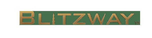 Blitzway logo in gold